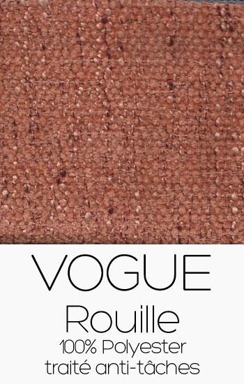 Tissu Vogue Rouille