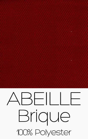 Tissu Abeille Brique