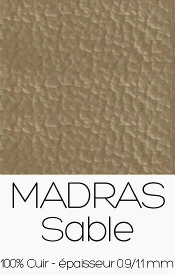 Cuir Madras Sable