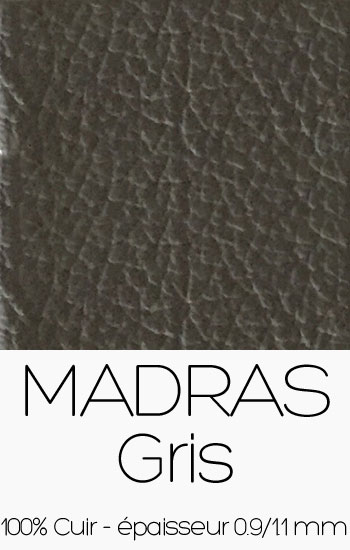 Cuir Madras Gris