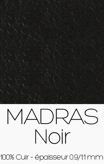 Cuir Madras Noir