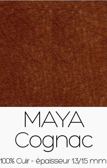 Cuir Maya Cognac