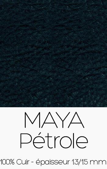Cuir Maya Pétrôle