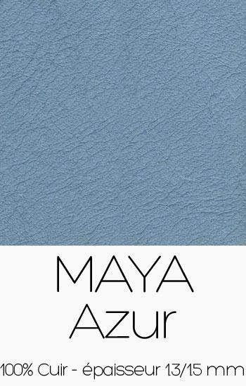 Cuir Maya Azur