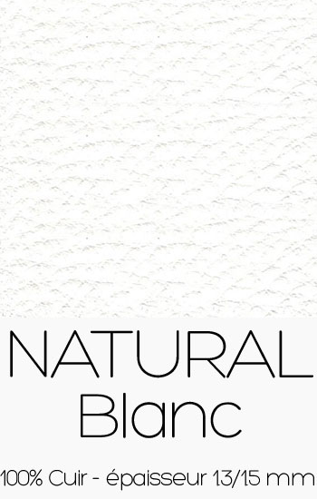 Cuir Natural Blanc