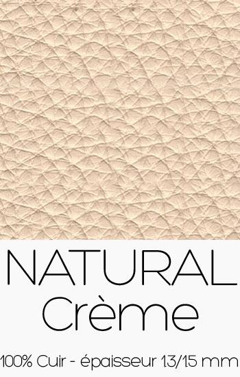 Cuir Naturel Crème