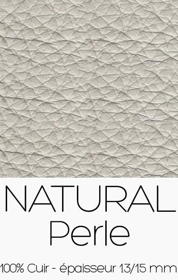 Cuir Naturel Perle