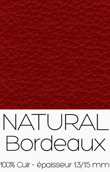 Cuir Naturel Bordeaux