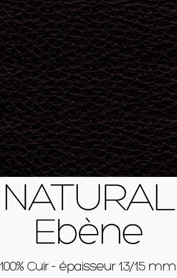Cuir Naturel Ebène