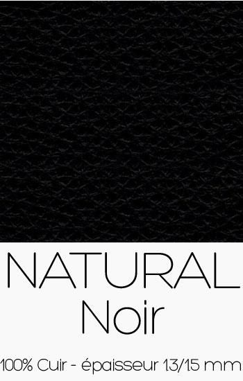 Cuir Naturel Noir