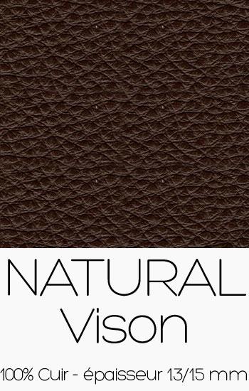 Cuir Naturel Vison