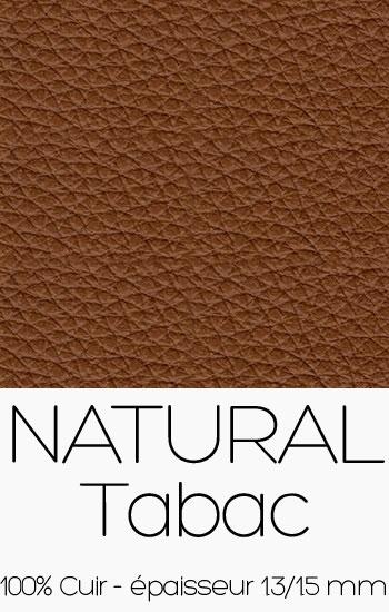 Cuir Naturel Tabac
