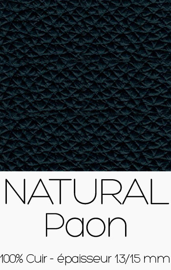 Cuir Naturel Paon