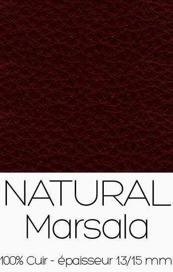 Cuir Naturel Marsala