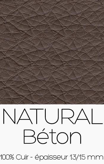 Cuir Naturel Béton