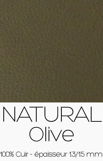 Cuir Naturel Olive