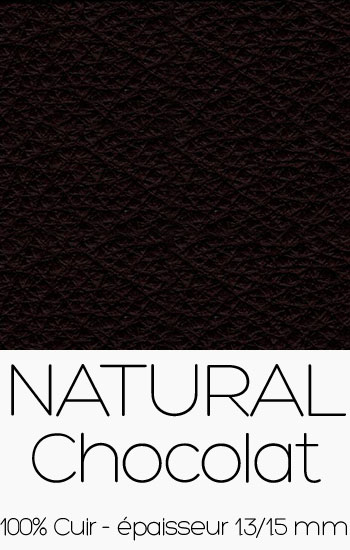 Cuir Naturel Chocolat