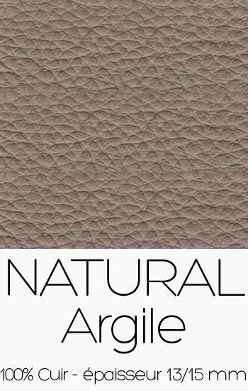 Cuir Naturel Argile