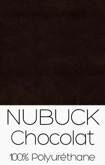Tissu Nubuck Chocolat