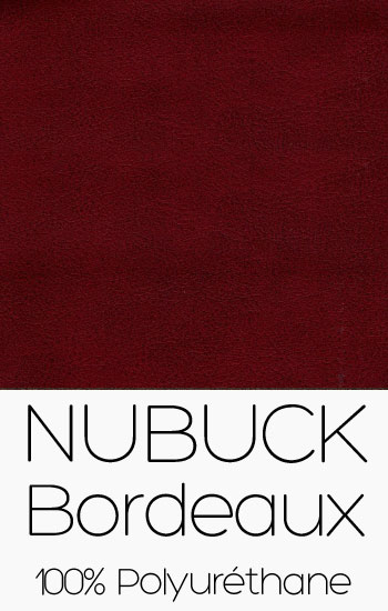 Tissu Nubuck Bordeaux