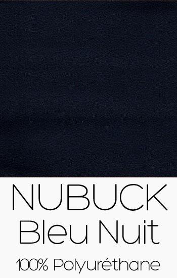 Tissu Nubuck Bleu Nuit