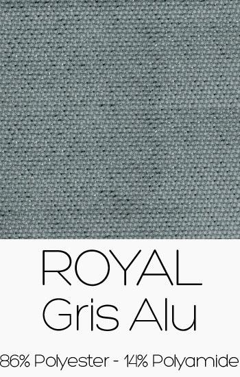 Tissu Royal Gris alu