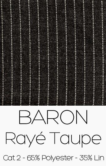 Baron rayé taupe