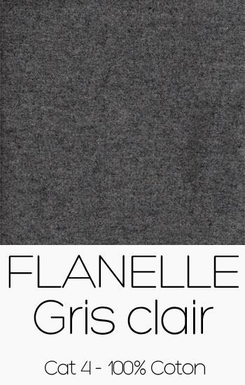 Tissu Flanelle Gris clair