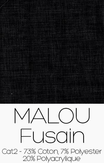 Tissu Malou Fusain