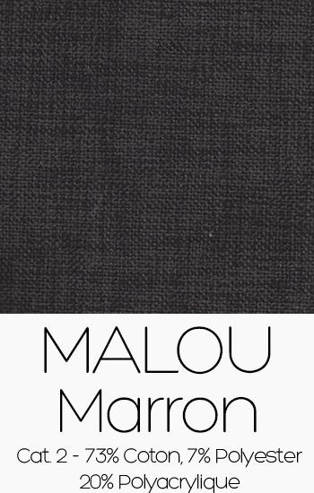 Tissu Malou Marron