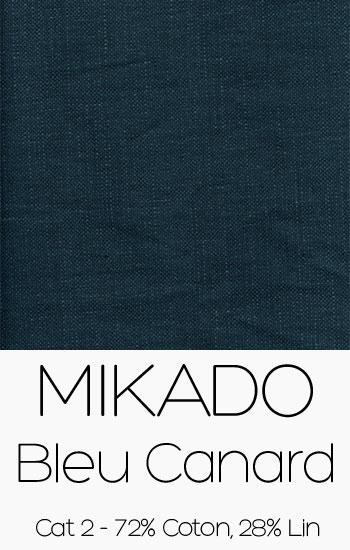 Tissu Mikado Bleu Canard