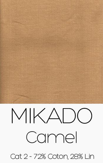 Tissu Mikado Camel