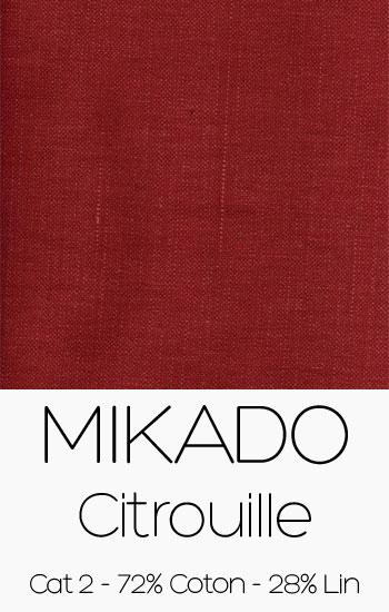 Tissu Mikado Citrouille