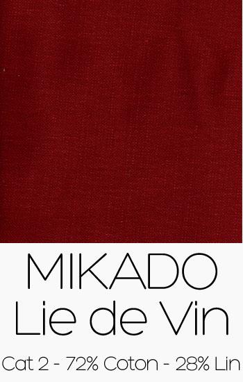 Tissu Mikado Lie de Vin