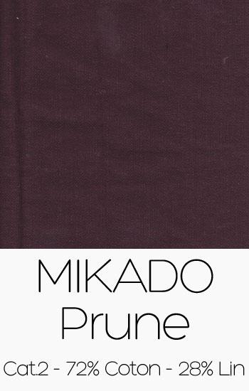 Tissu Mikado Prune