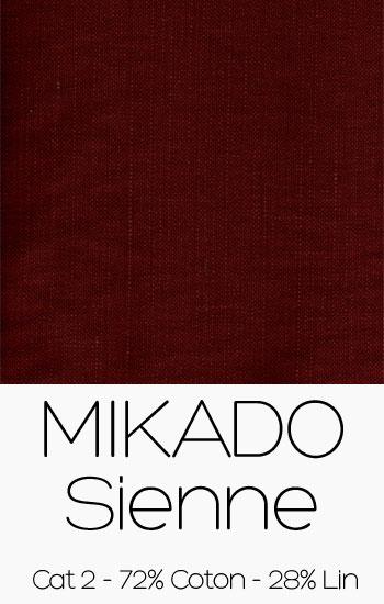 Tissu Mikado Sienne