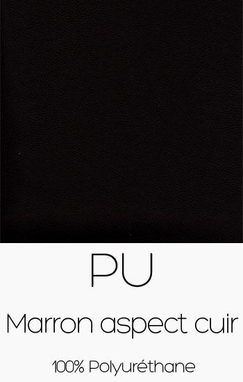 Tissu PU Marron aspect cuir