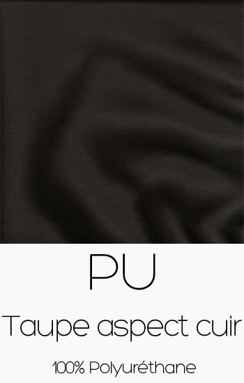 Tissu PU Taupe aspect cuir