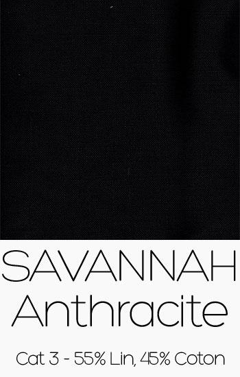 Tissu Savannah anthracite