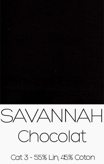 Tissu Savannah Chocolat