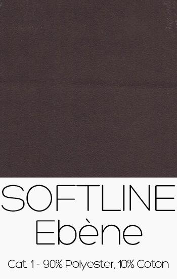 Tissu Softline Ebène