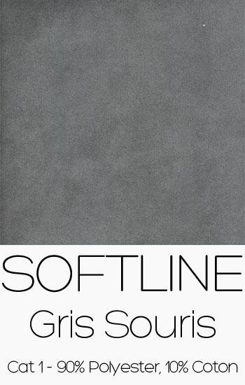 Tissu Softline gris souris