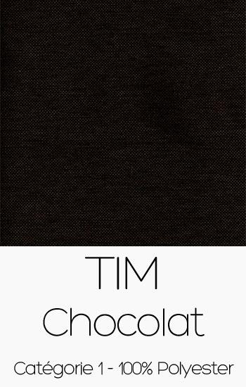 Tissu Tim Chocolat