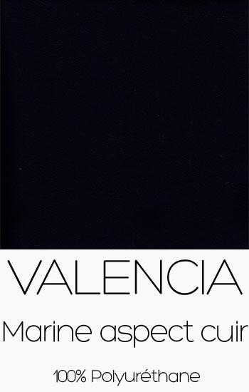 Tissu Valencia Marine aspect cuir