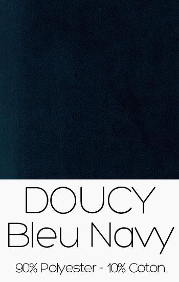 Tissu Doucy Bleu Navy