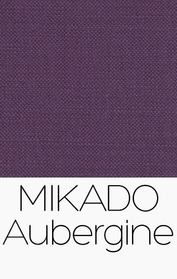 Tissu Mikado Aubergine