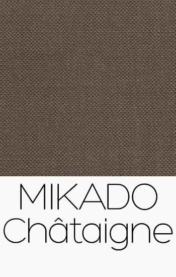 Tissu Mikado Châtaigne
