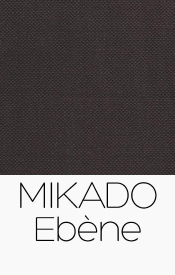 Tissu Mikado Ebène