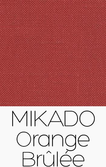 Tissu Mikado Orange Brûlée