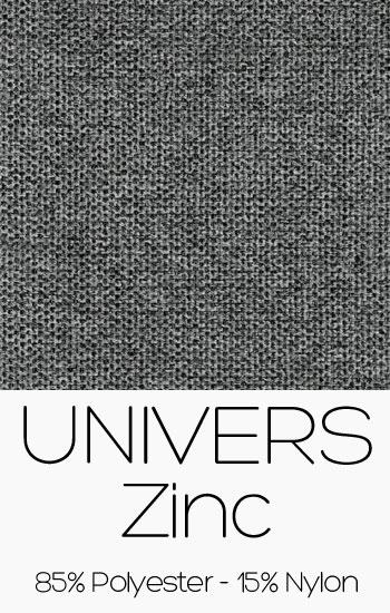 Tissu Univers Zinc